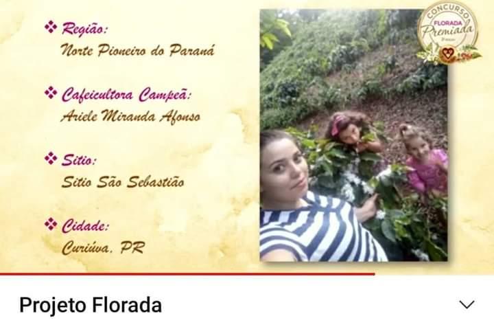 A pequena produtora de café Ariele Miranda produz café a dois anos.