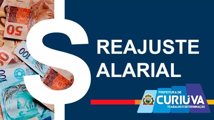 CURIÚVA: Prefeitura concede reajuste salarial a todos os servidores